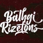 Balhgi Rizetons Bold Script Font