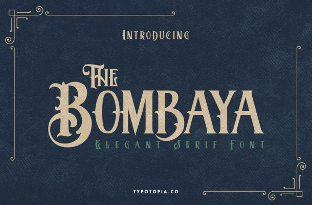 Bombaya Display Serif Font