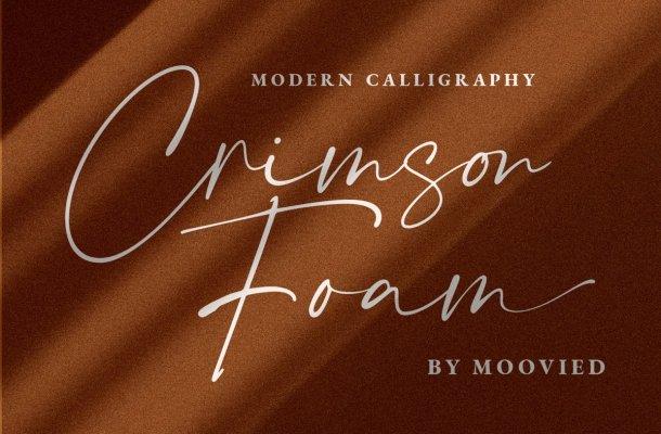 Crimson Foam Handwritten Script Font