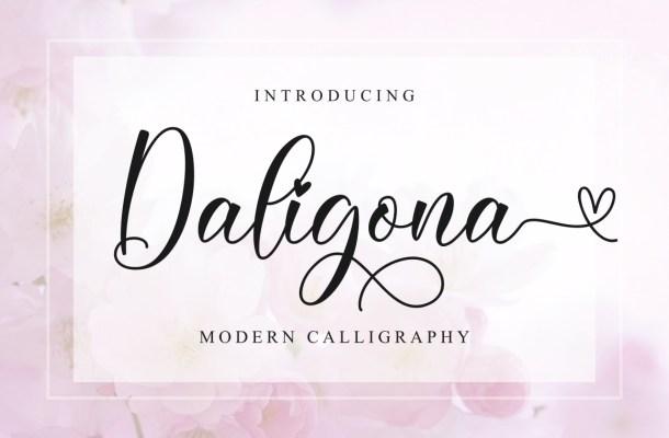 Daligona Modern Calligraphy Script Font