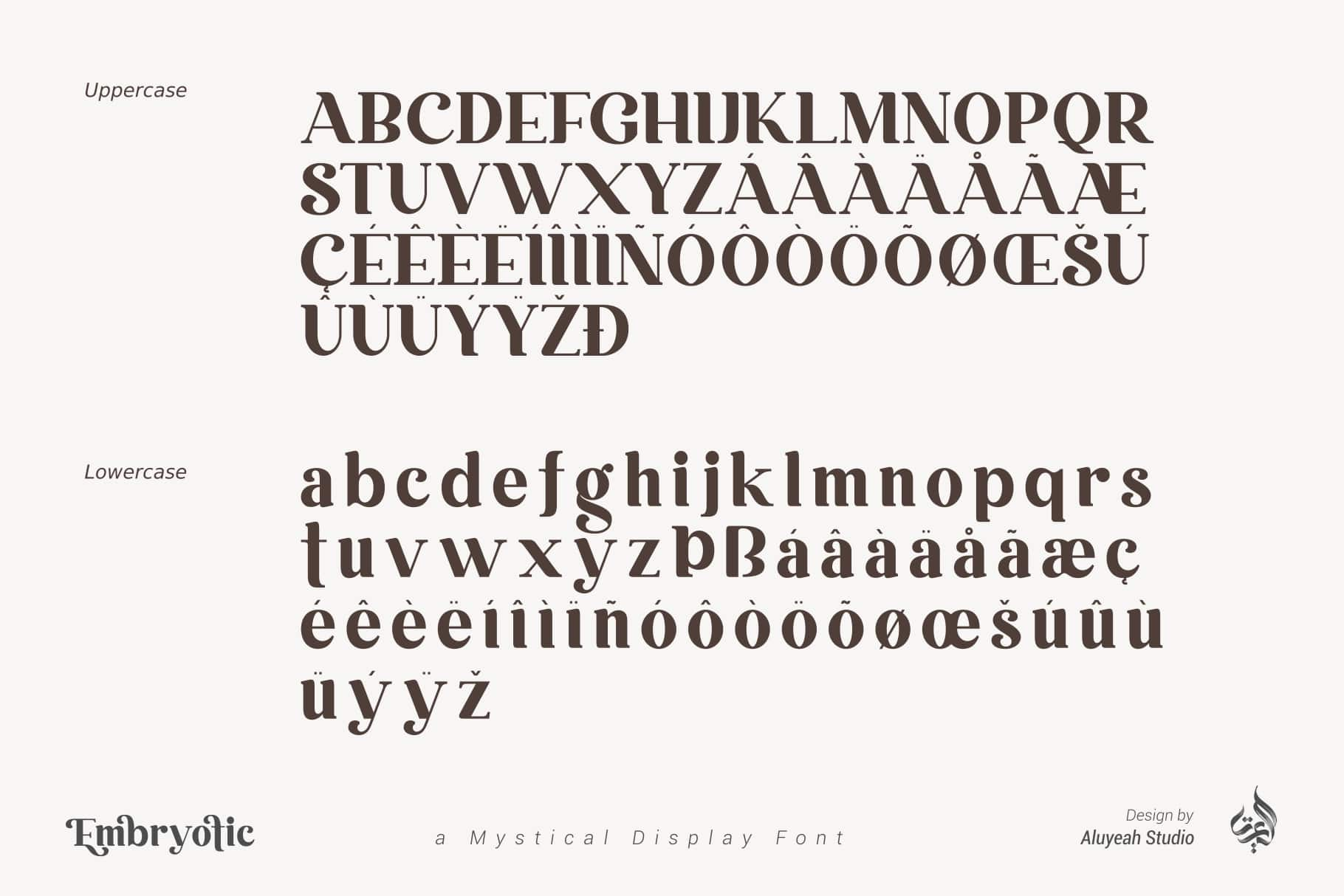Embryotic Serif Display Font-3