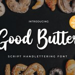Good Butter Handwritten Script Font