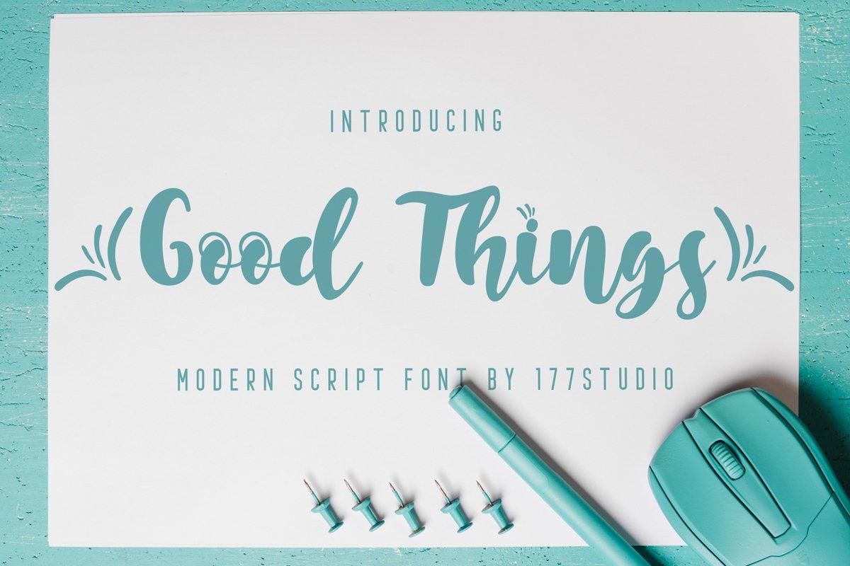 Good Things Modern Script Font