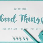 Good Things Modern Script Font