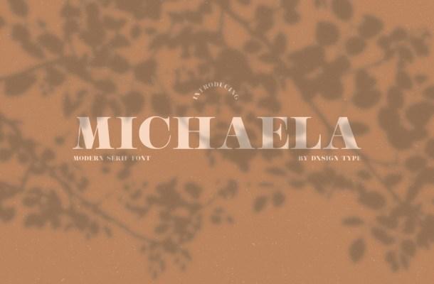 Michaela Modern Serif Typeface