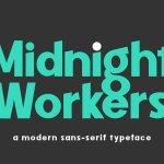 Midnight Workers Sans Serif Typeface