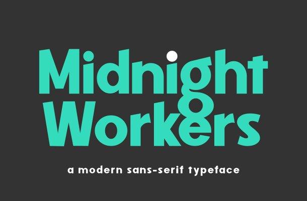 Midnight Workers Modern Sans Serif Typeface