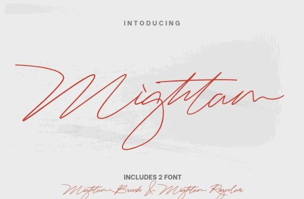 Mightam Handwritten Signature Font
