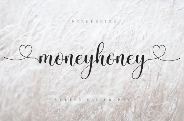 Moneyhoney Modern Calligraphy Script Font