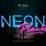 Neon Planet Display Typeface