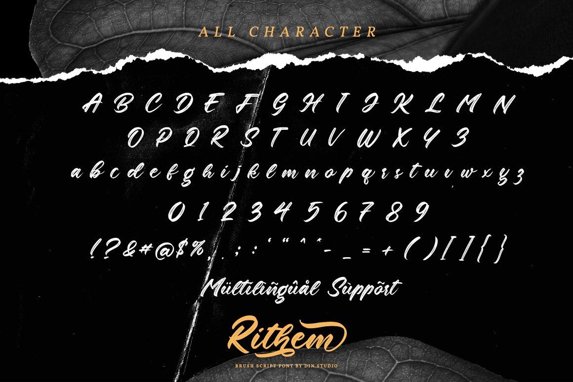 Rithem Brush Script Font-3