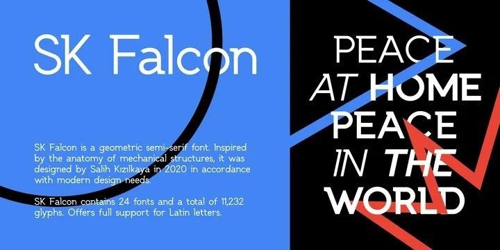 SK Falcon Sans Serif Typeface-2