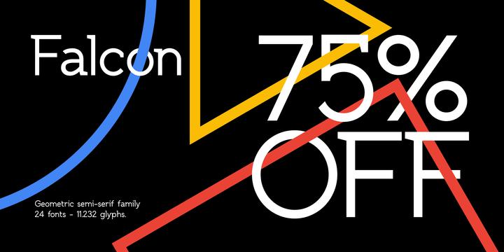 SK Falcon Sans Serif Typeface