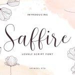 Saffire Calligraphy Script Font