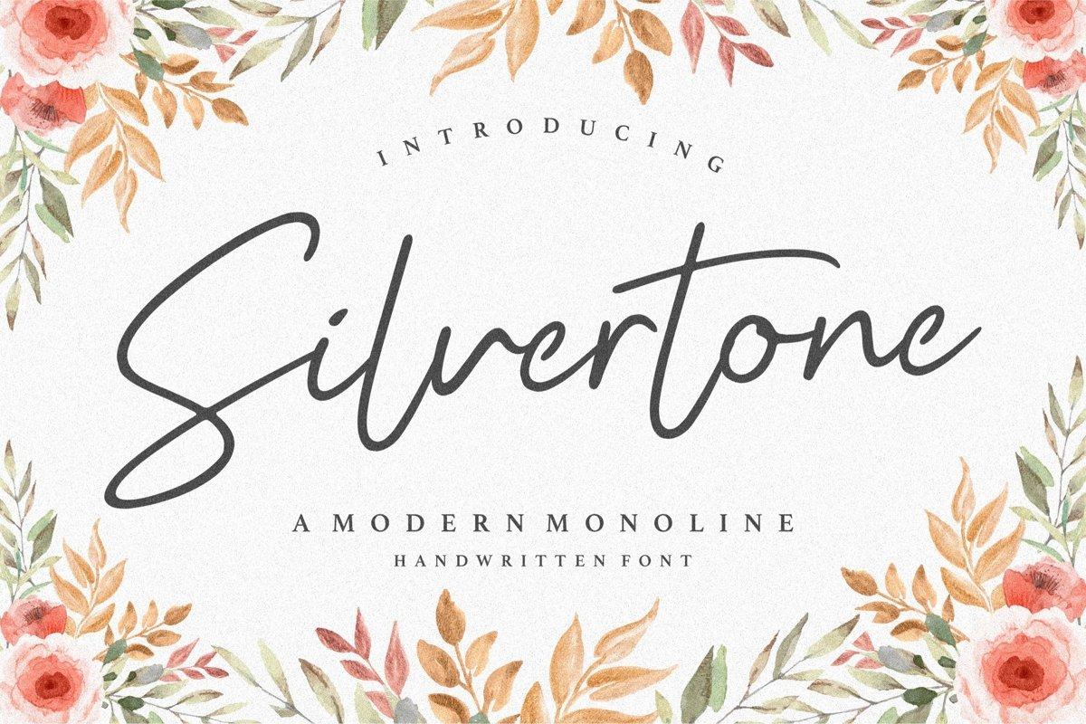 Silvertone Monoline Handwritten Font