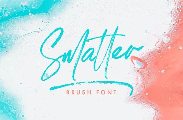 Smatter Brush Script Font