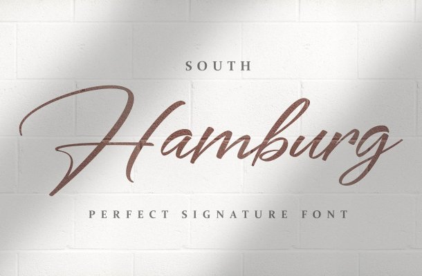 South Hamburg Handwritten Signature Script Font