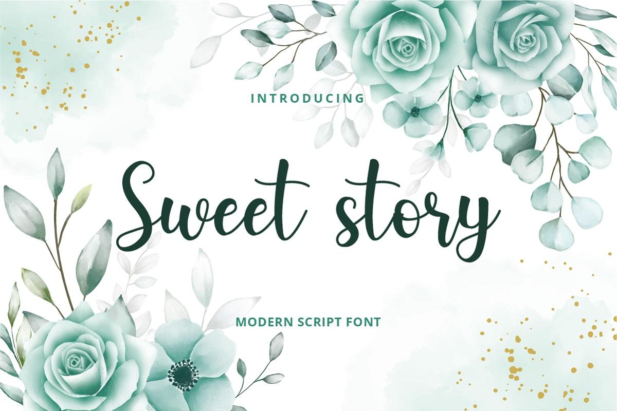 Sweet Story Handwritten Script Font-1