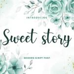 Sweet Story Handwritten Script Font