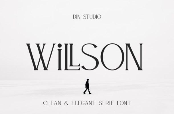 Willson Clean Serif Font