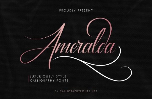 Ameralda Luxurious Calligraphy Font