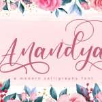 Anandya Calligraphy Script Font