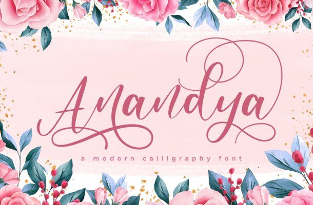 Anandya Calligraphy Script Font