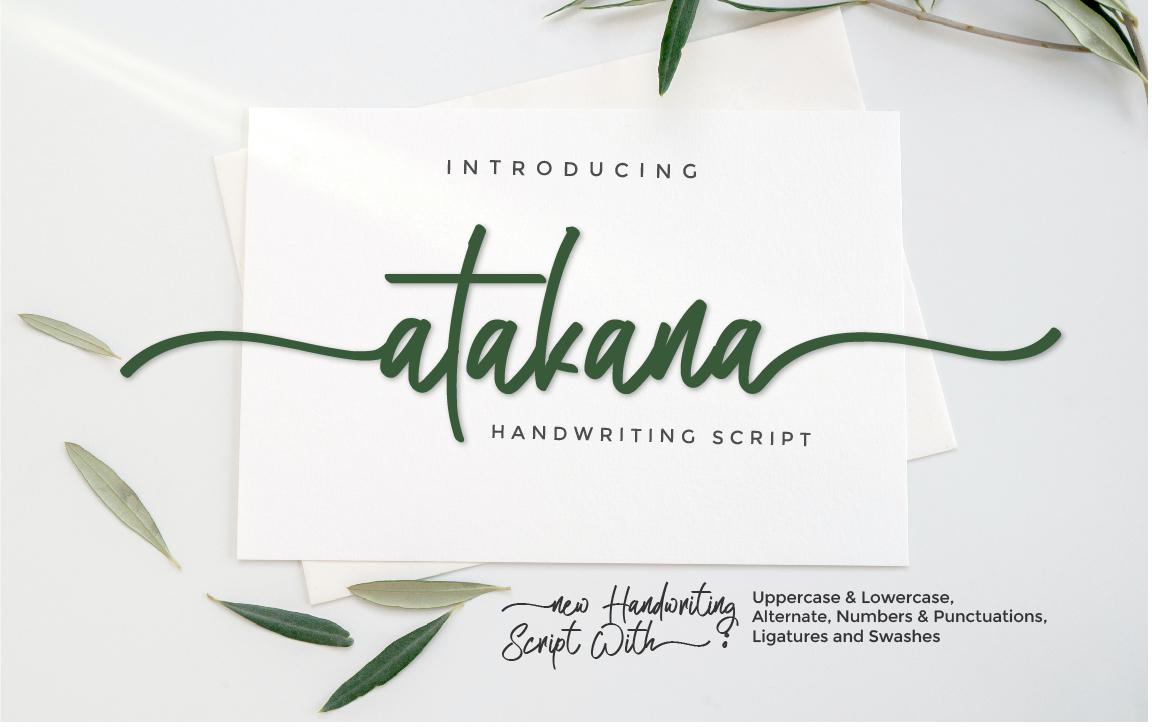 Atakana Handwritten Script Font