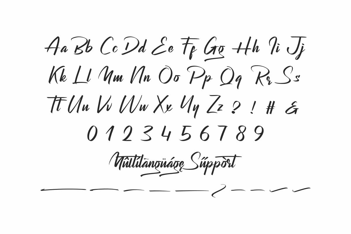 Bagsman Modern Script Font-3
