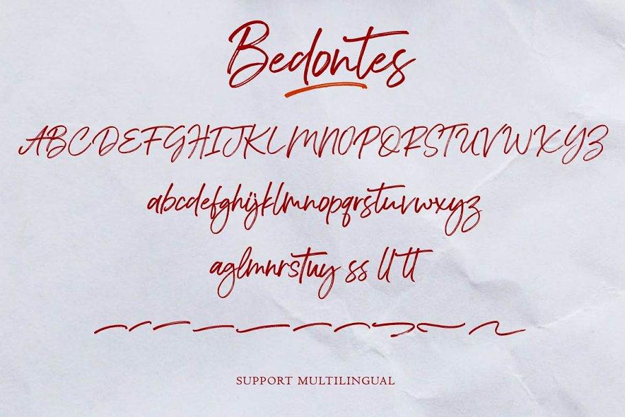 Bedontes Handwritten Brush Font-3