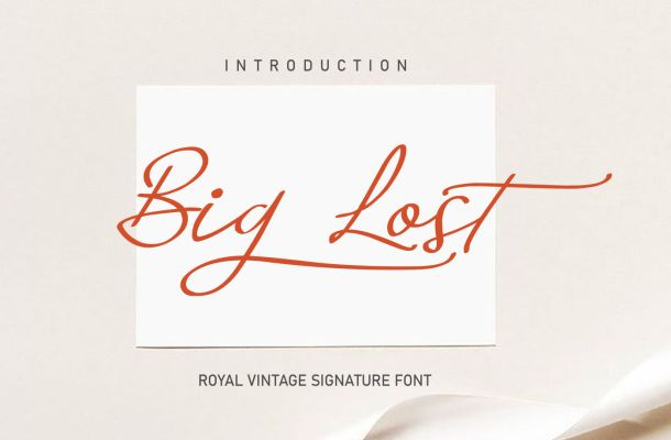 Big Lost Royal Vintage Signature Font