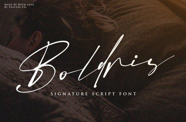 Boldris Signature Script Font