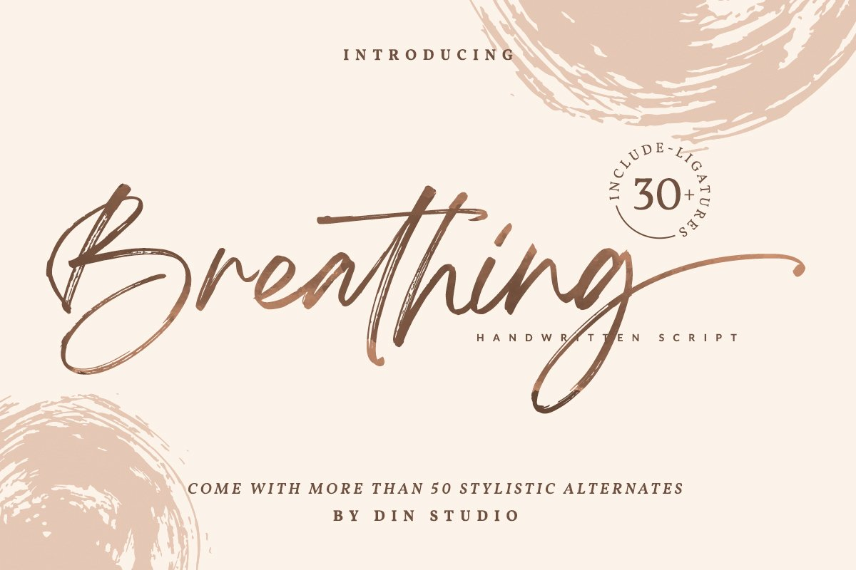 Breathing Signature Brush Font