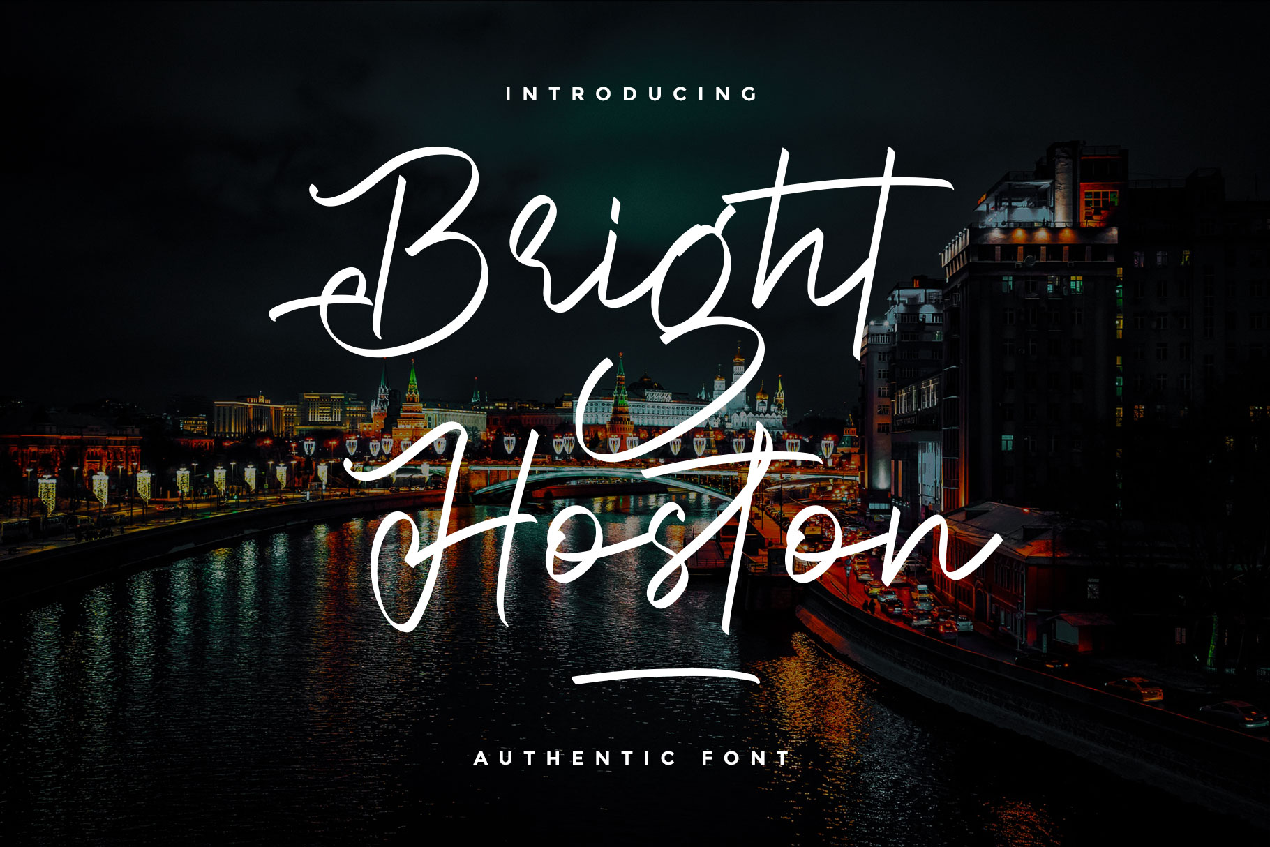 Bright Hoston Handwritten Script Font