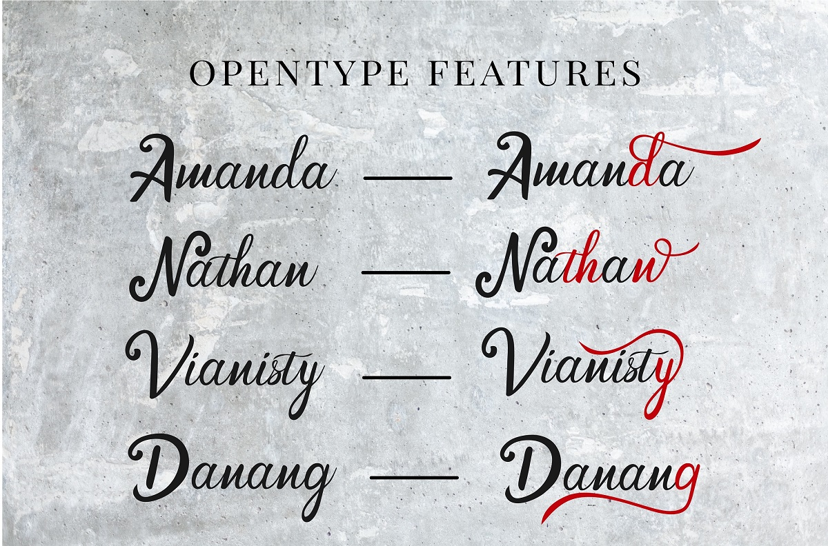 Cendhany Calligraphy Typeface-2