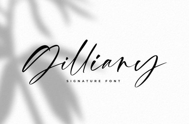 Gilliany Signature Script Font