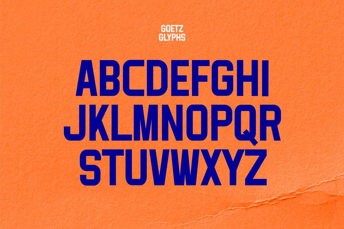 Goetz Condensed Display Font-3