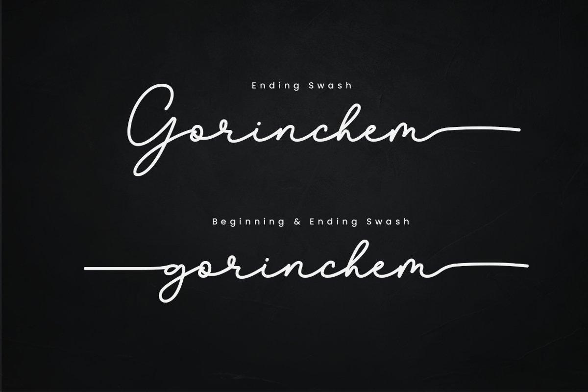Gorinchem Handwritten Signature Font-2