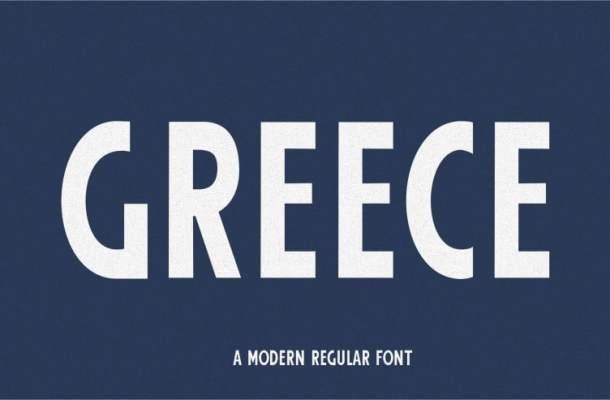 Greece Modern Sans Serif Font
