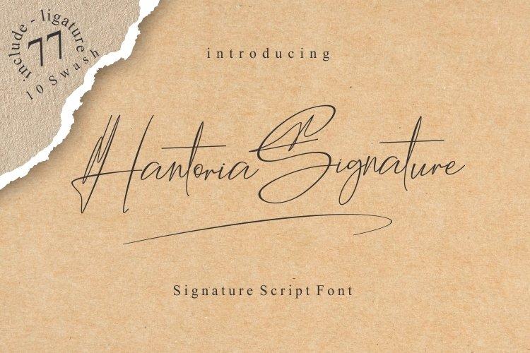 Hantoria Signature Script Font