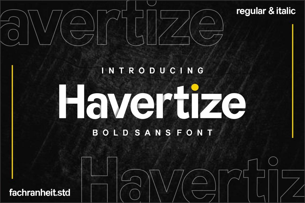 Havertize Bold Sans Serif Font