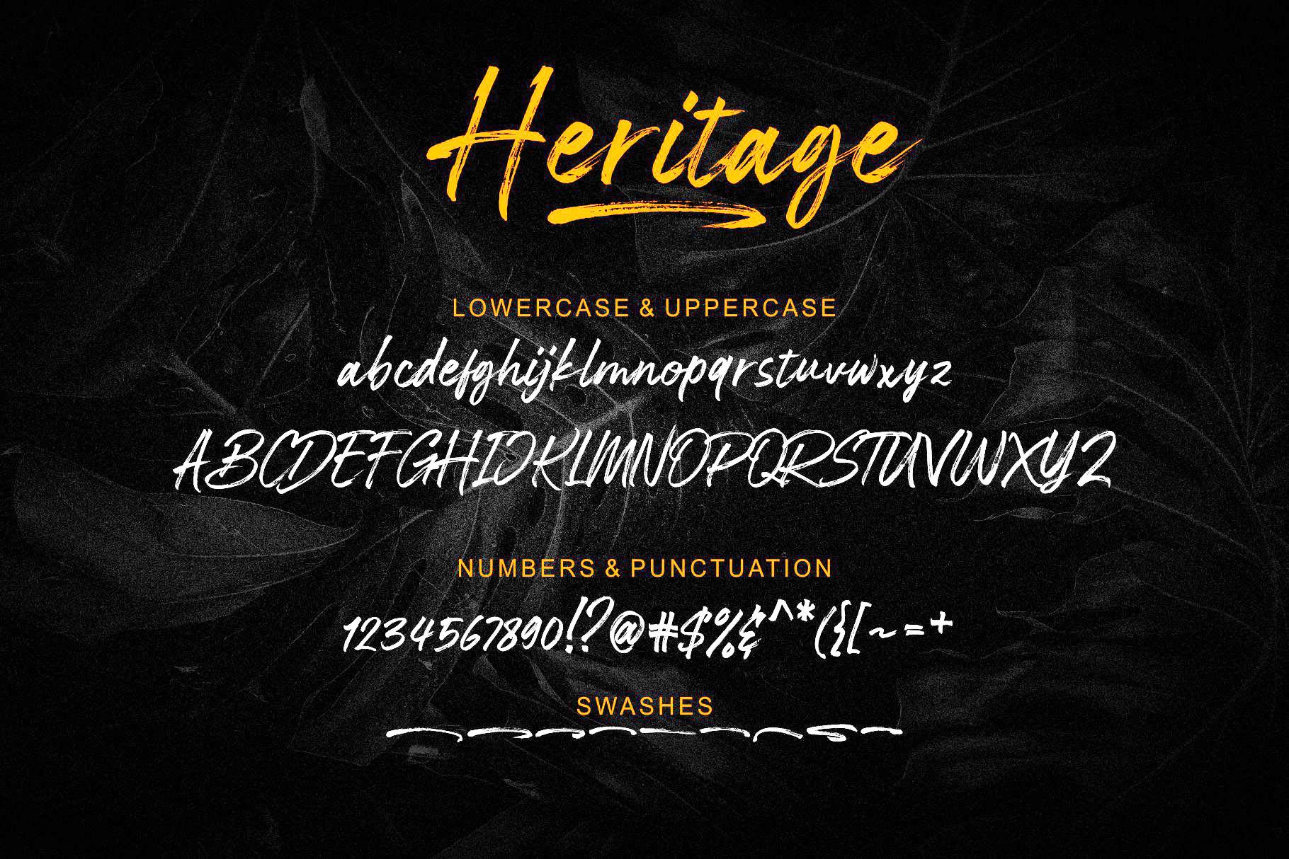 Heritage Brush Script Font-3