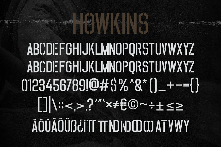 Howkins Stencil Display Font-3