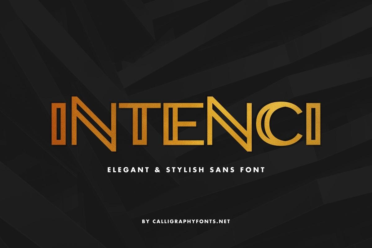 INTENCI Display Sans Font