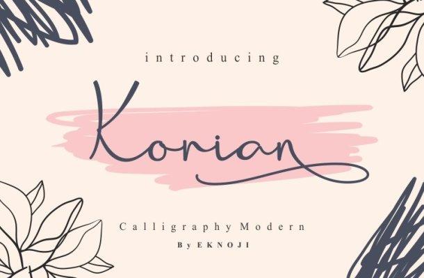 Korian Handwritten Script Font