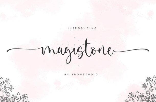 Magistone Lovely Calligraphy Script Font
