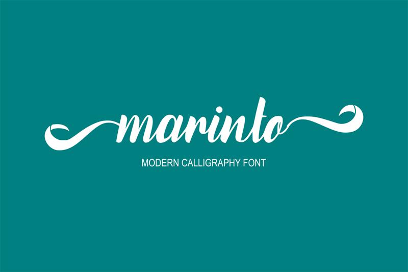 Marinto Modern Calligraphy Script Font