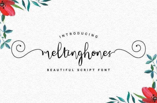 Meltinghones Calligraphy Script Font
