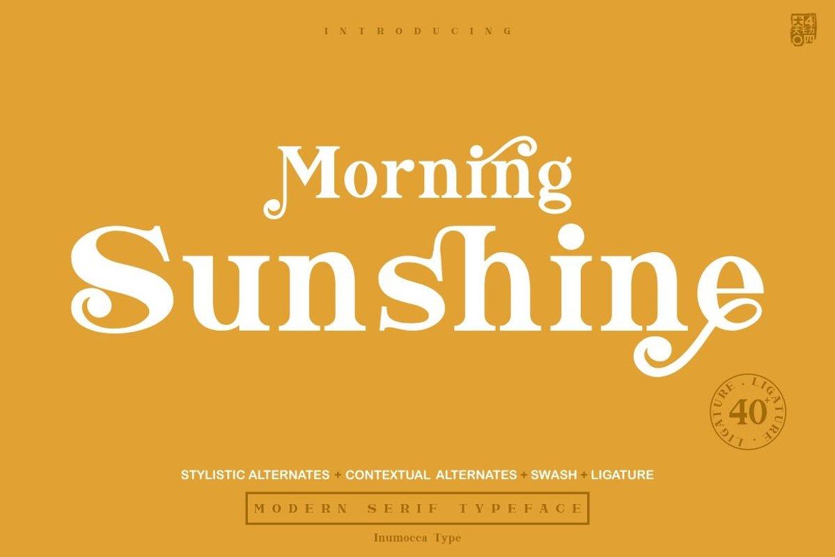 Morning Sunshine Modern Serif Typeface