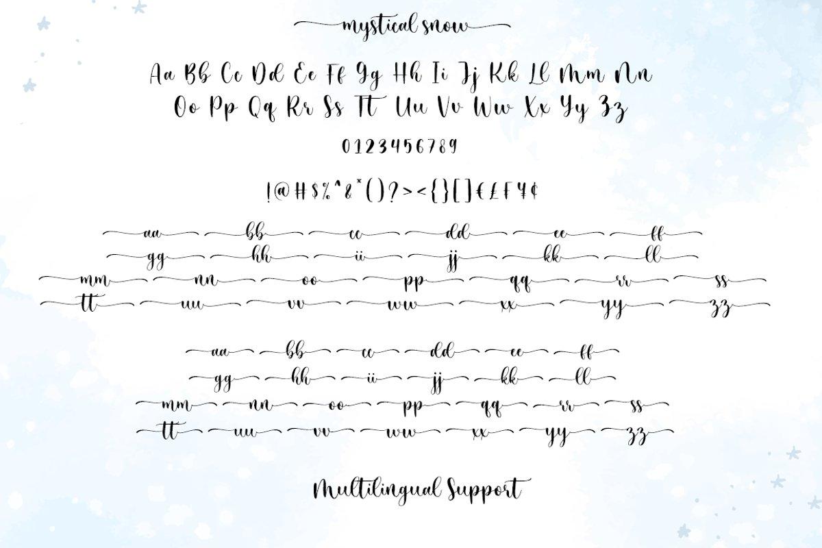 Mystical Snow Calligraphy Script Font-3